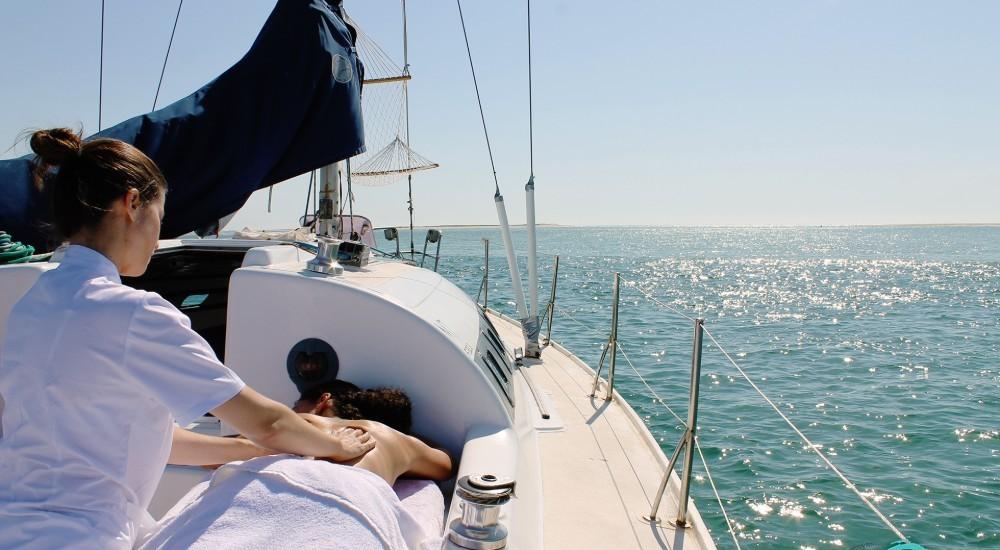 Massagens no veleiro
